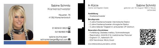 Beispiel einer Profil-Visitenkarte